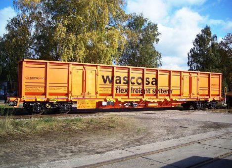 Schüttgut-Container Schienenfahrzeug